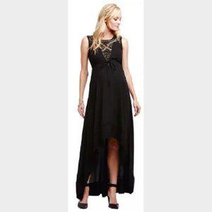 New Jessica Simpson Maternity High-Low Maxi Dress